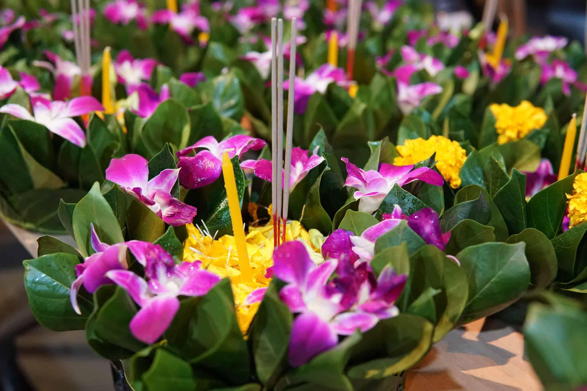 Krathongs Blumen