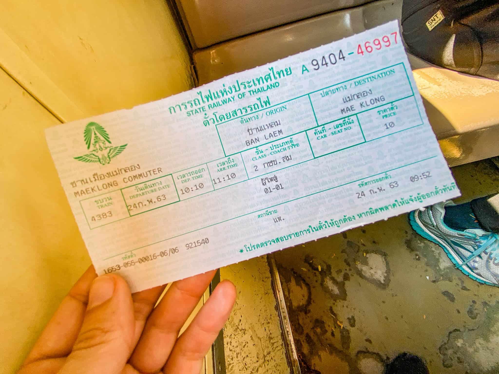 Ticket Mae Klong Railway