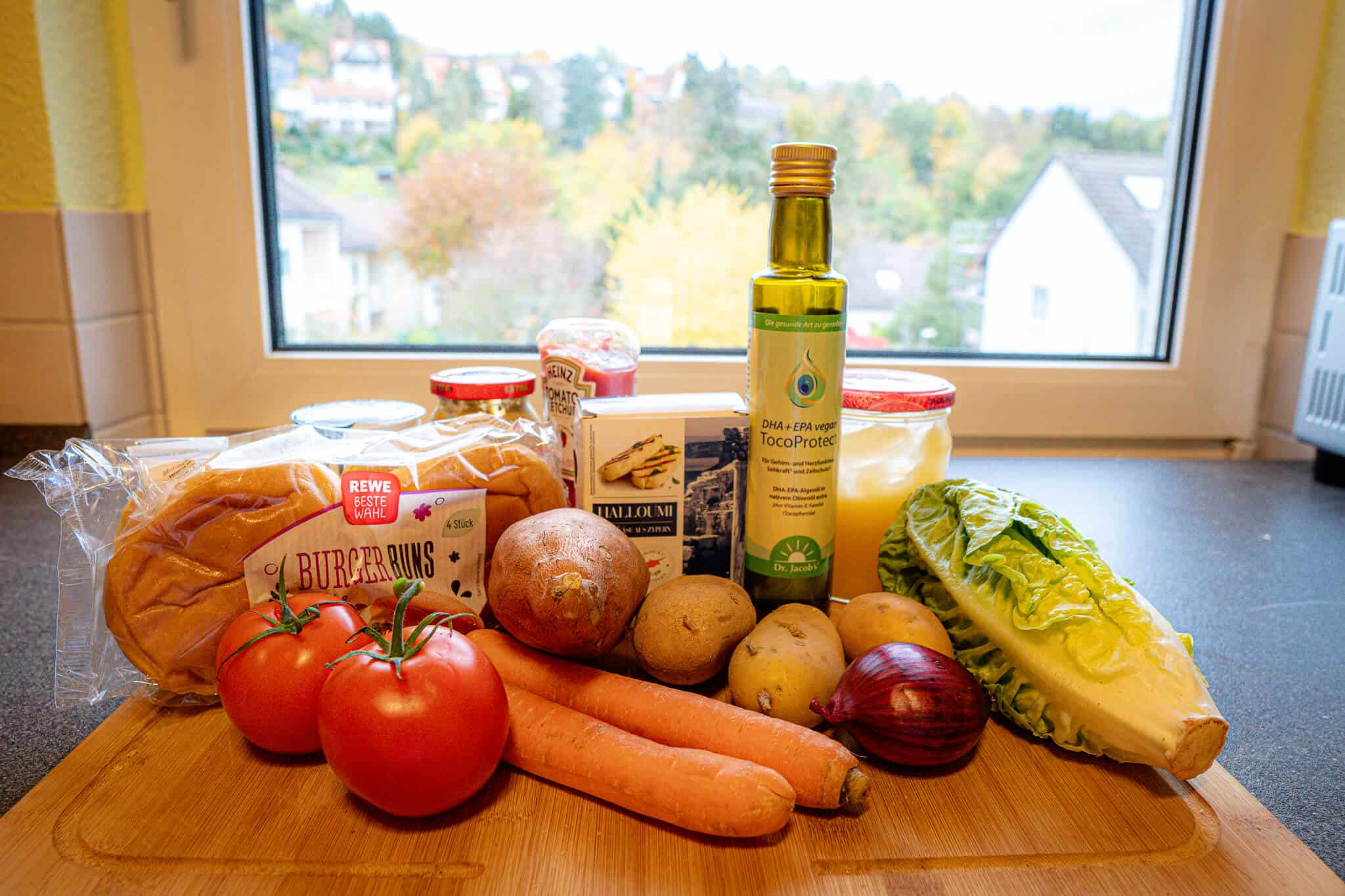 Ingredients Halloumi Burger