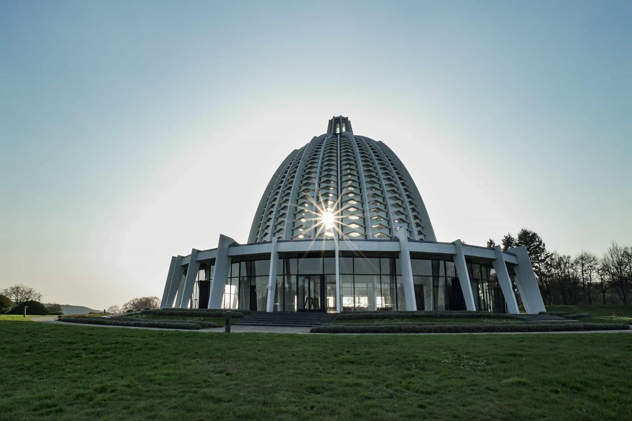 Bahai Haus der Andacht Sonnenuntergang