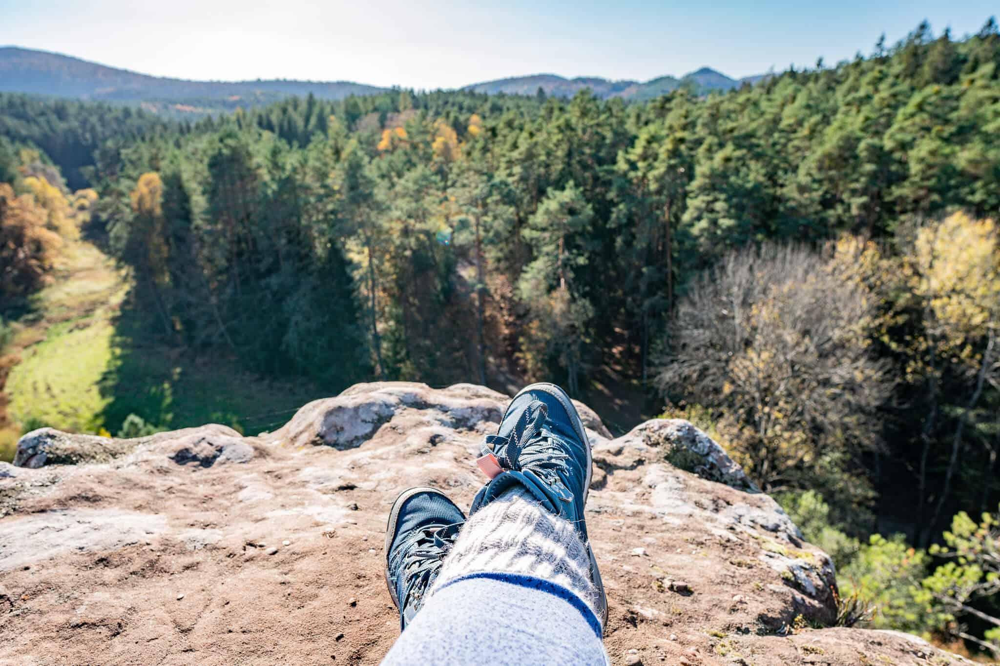 Chillen auf dem Dahner Felsenpfad