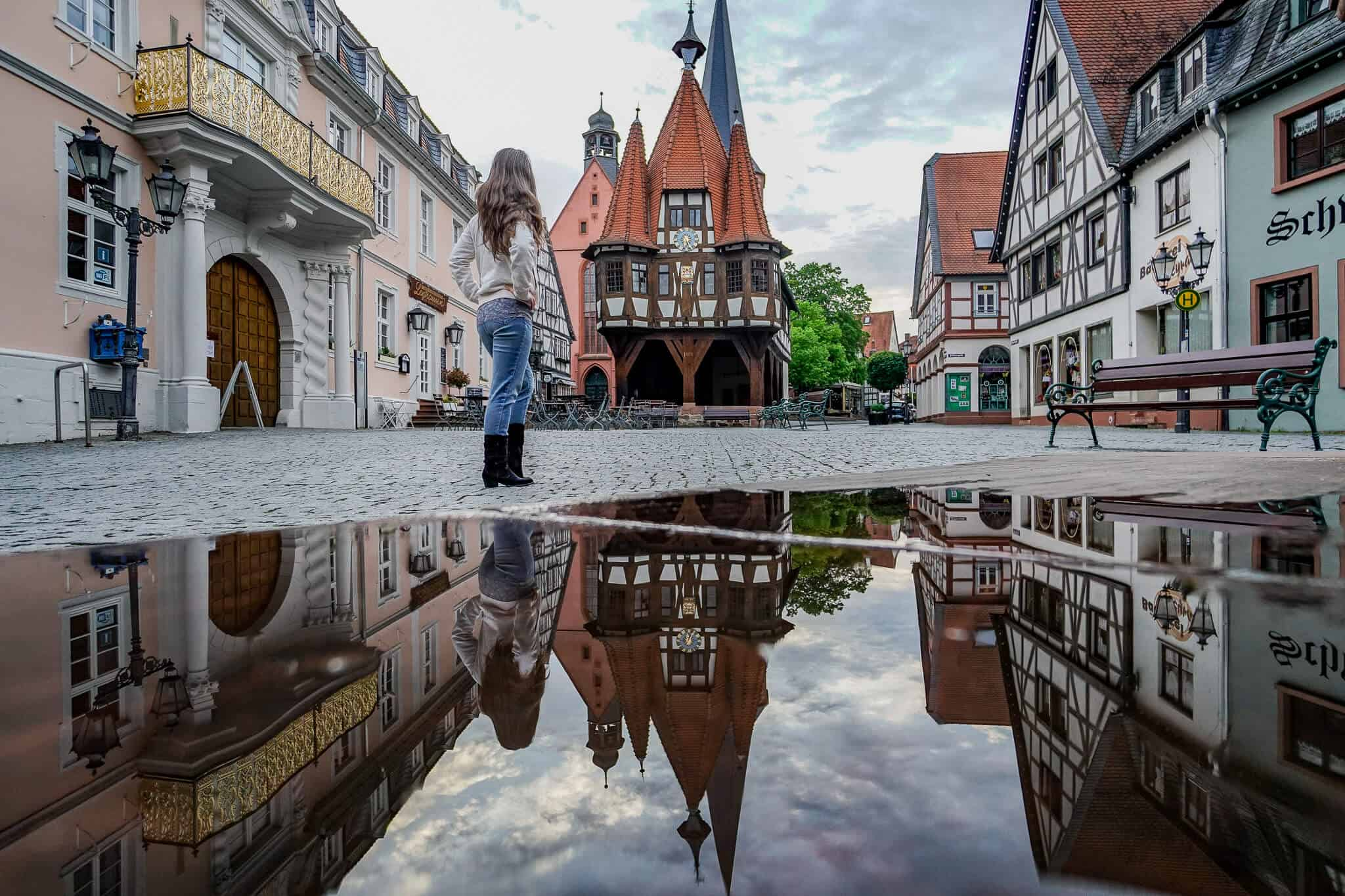 Barbara Spiegelung Historisches Rathaus Michelstadt