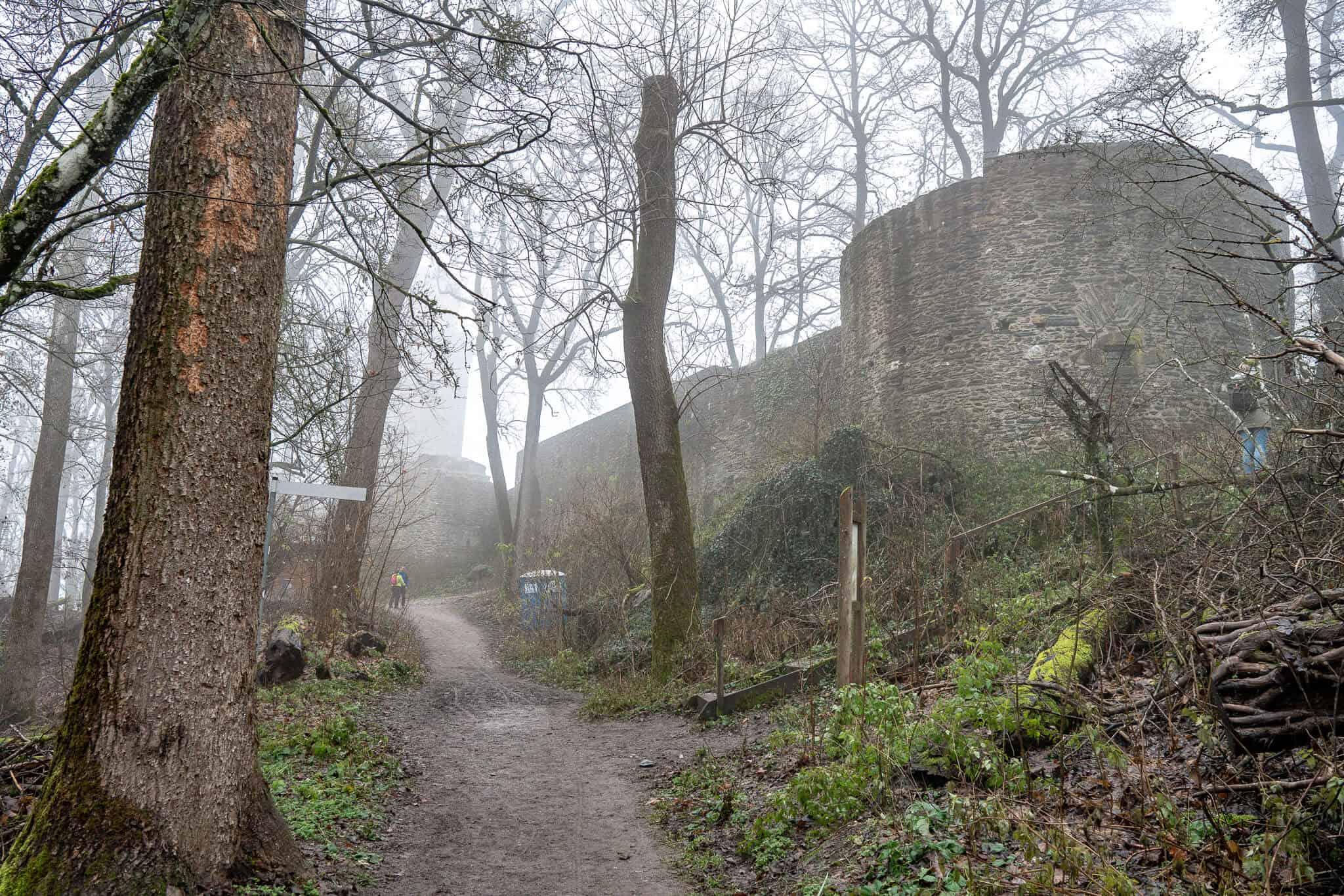 Falkensteiner Burg im Nebel