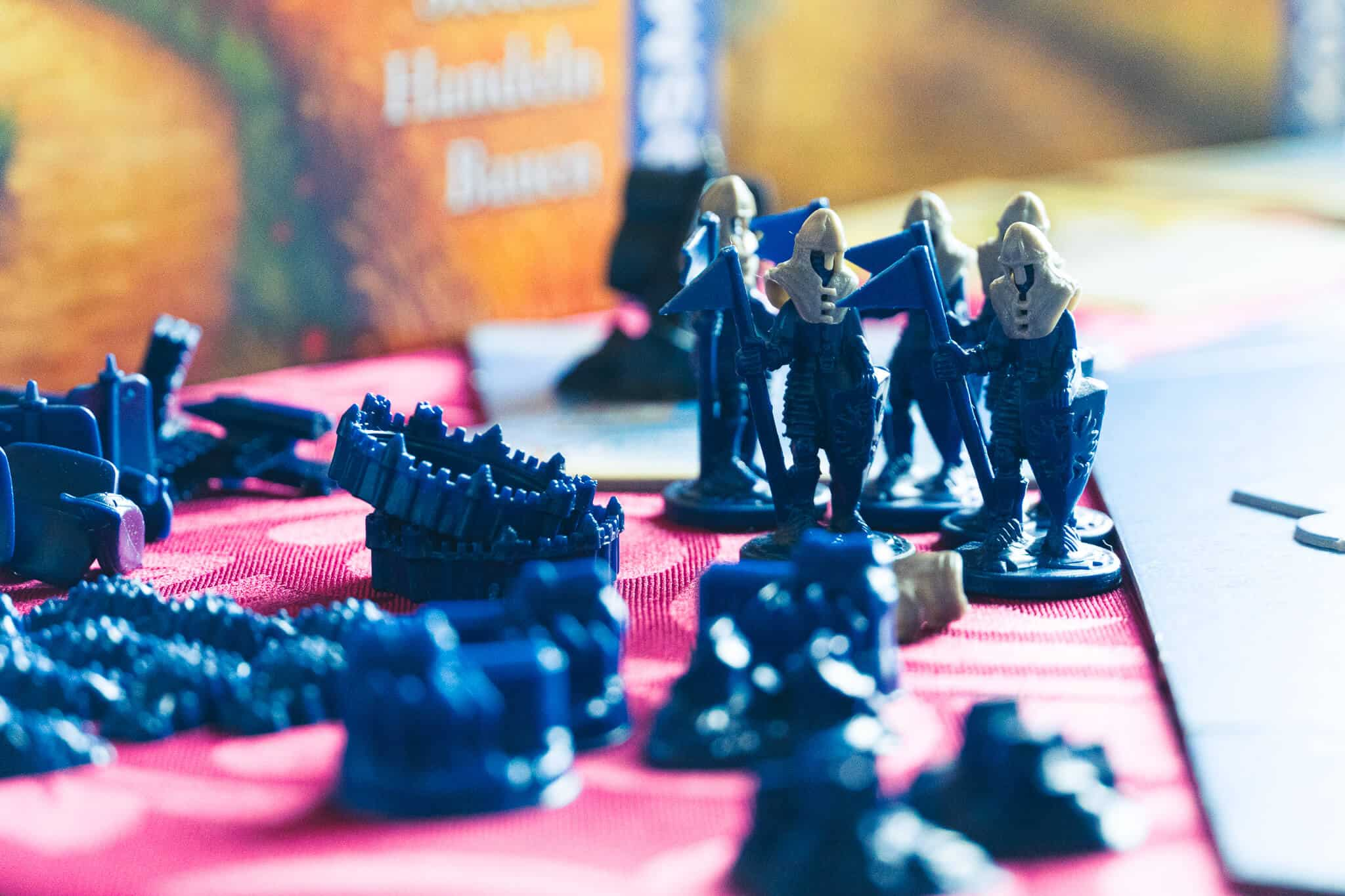 Catan blaue Figuren