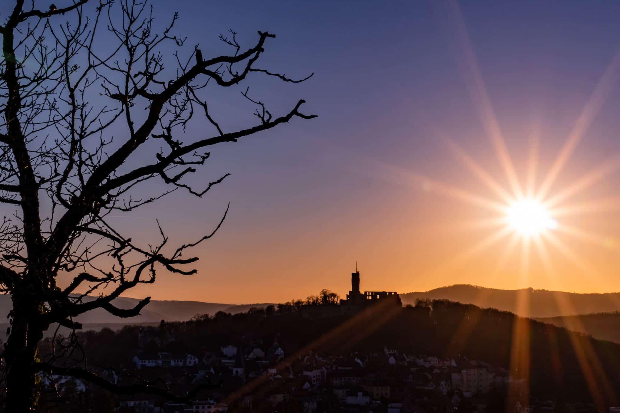 Hildablick im Sonnenuntergang