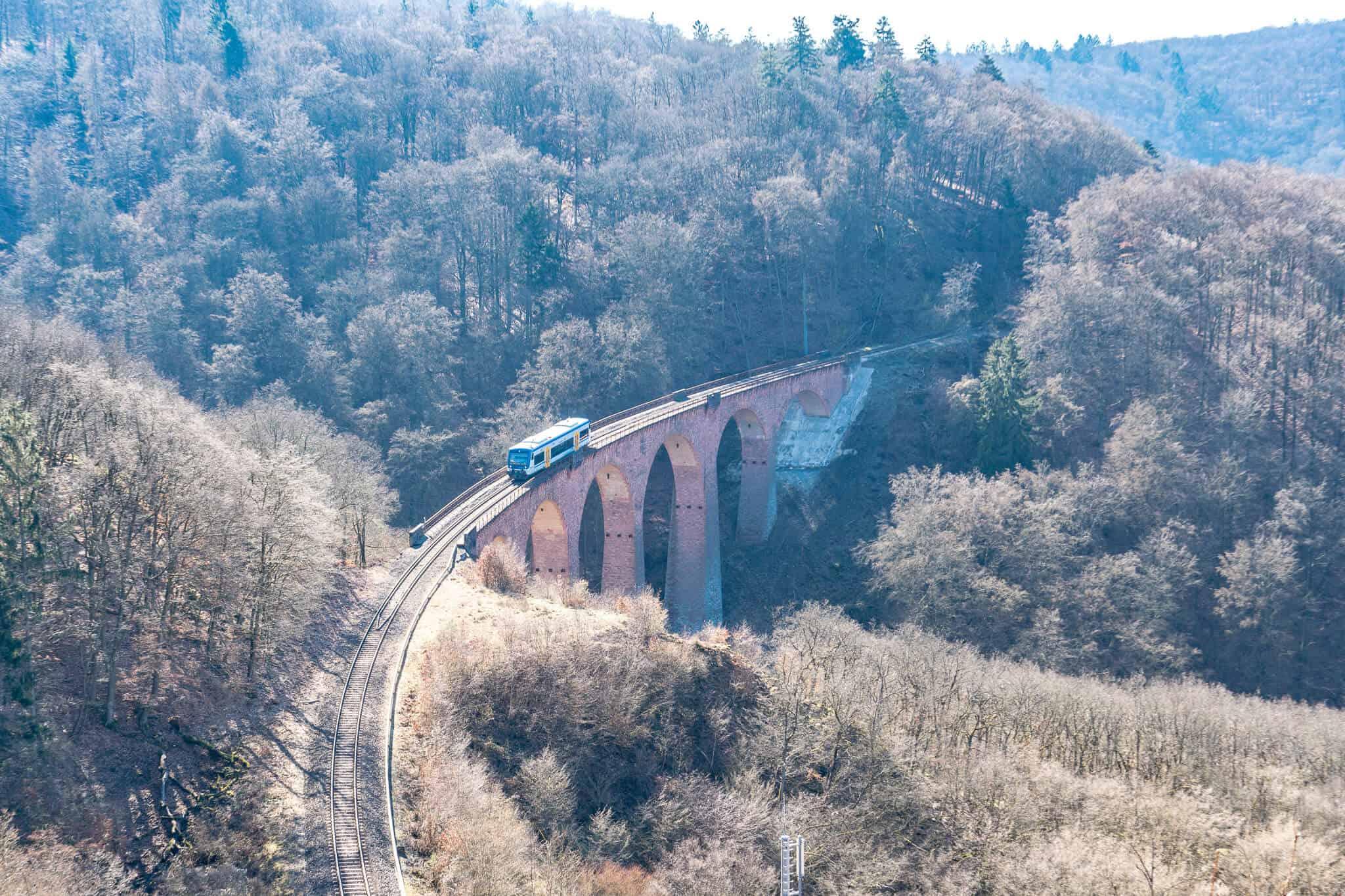 Hunsrückbahn auf dem Hubertusviadukt