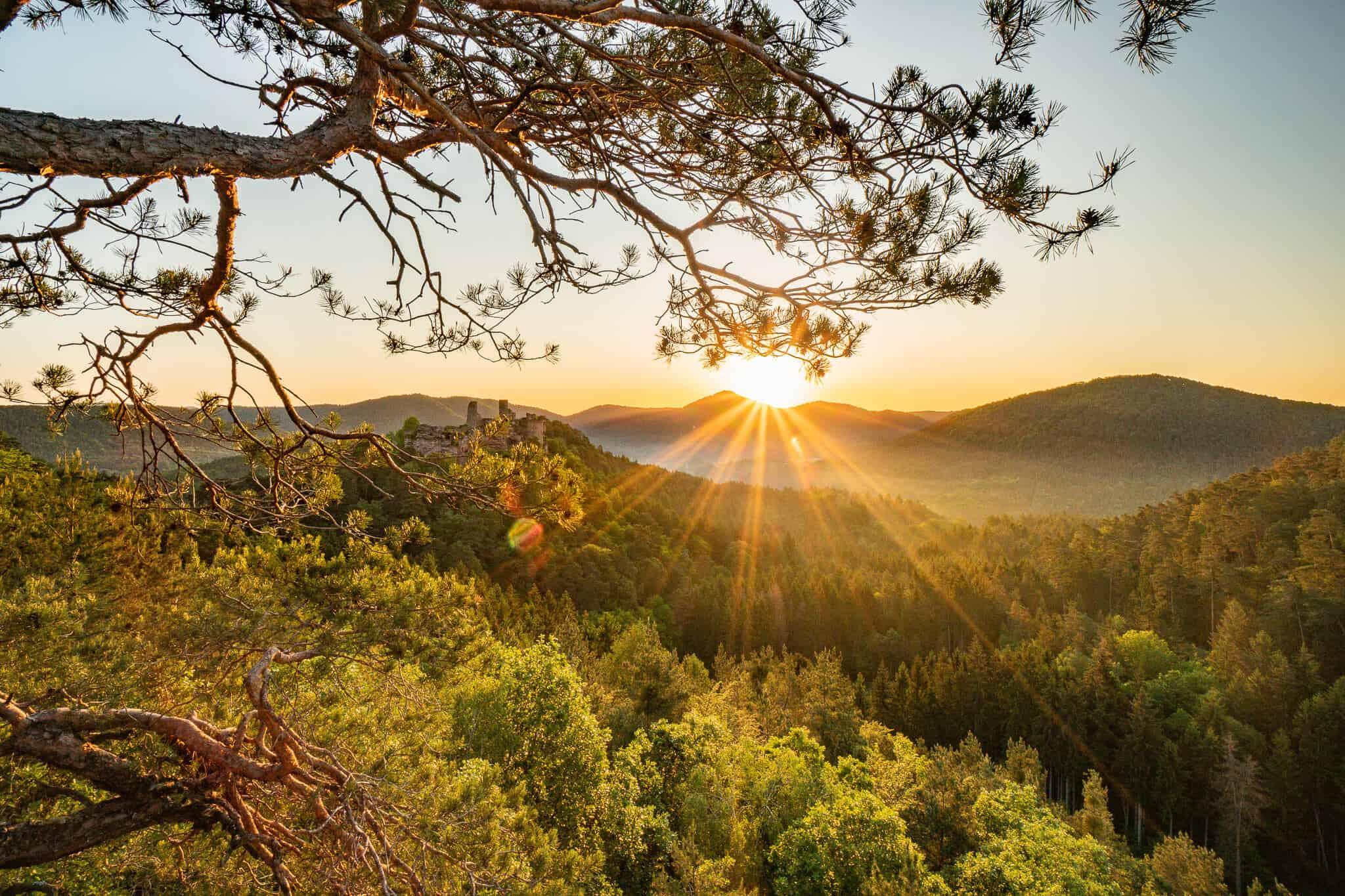 Sonnenaufgang Haferfels
