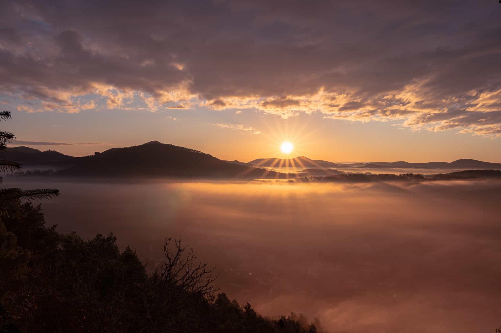 Sonnenaufgang vom Wachtfels