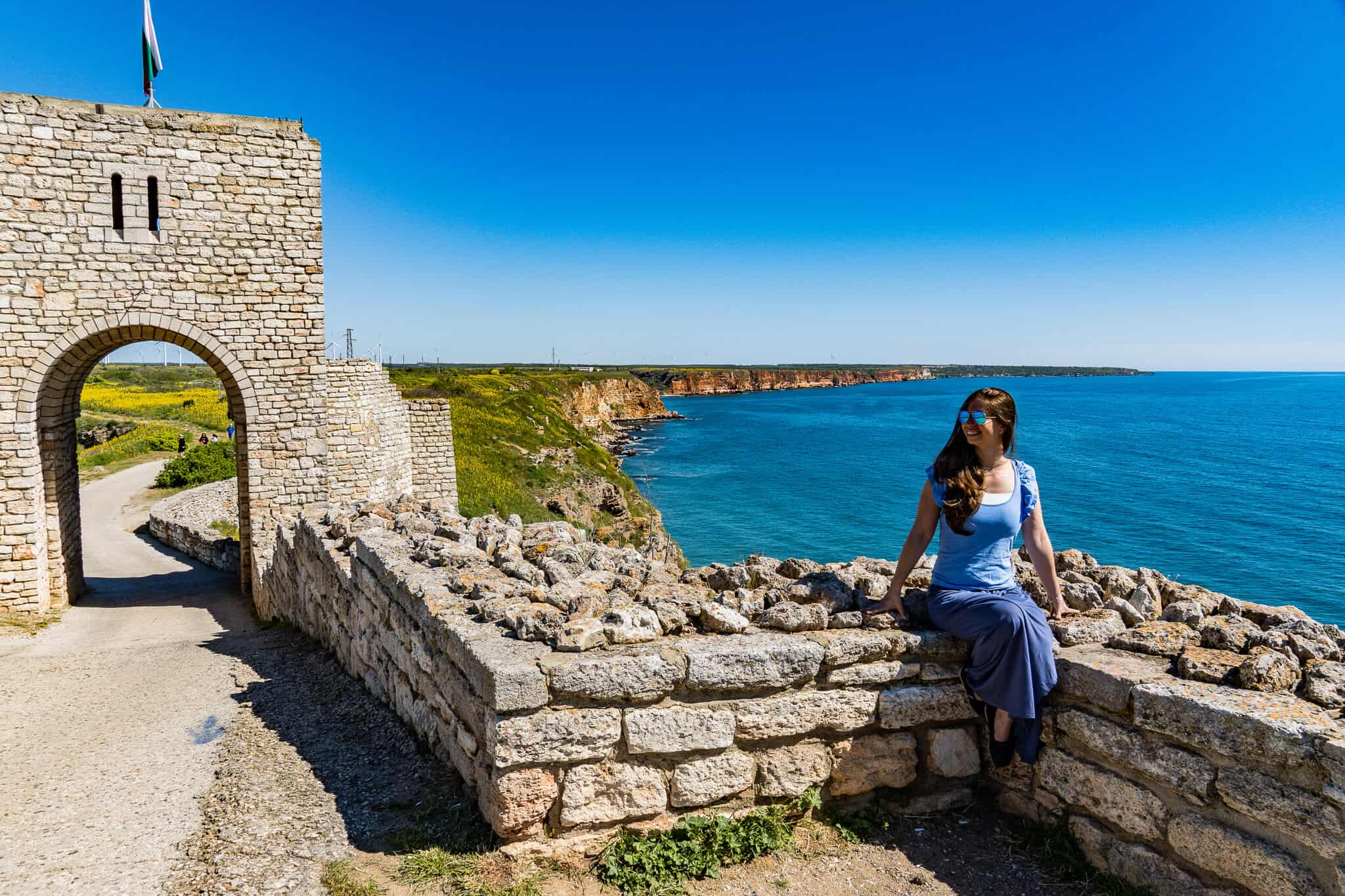 Barbara am Kap Kaliakra im Bulgarienurlaub