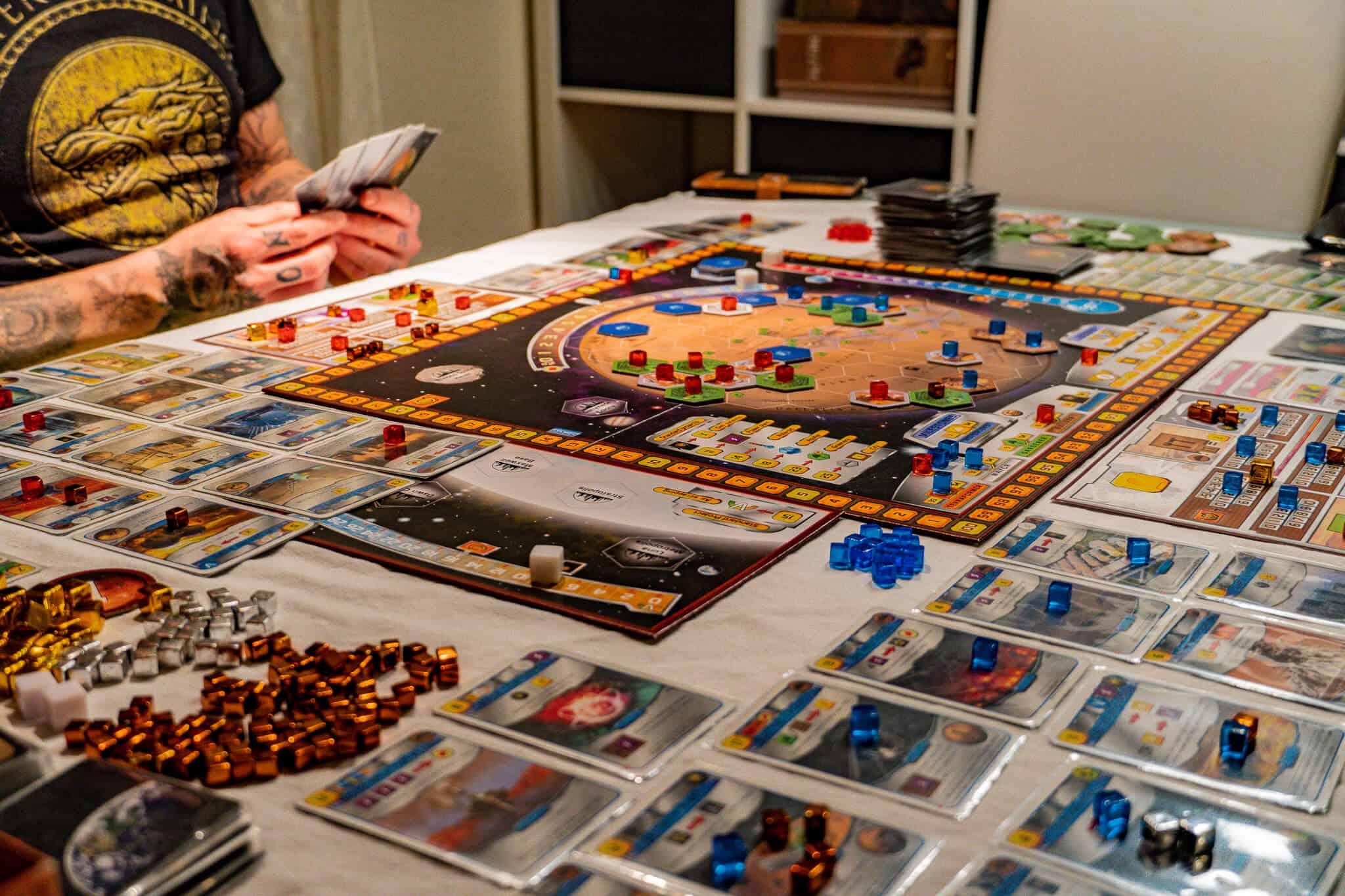 Terraforming Mars Spielfeld