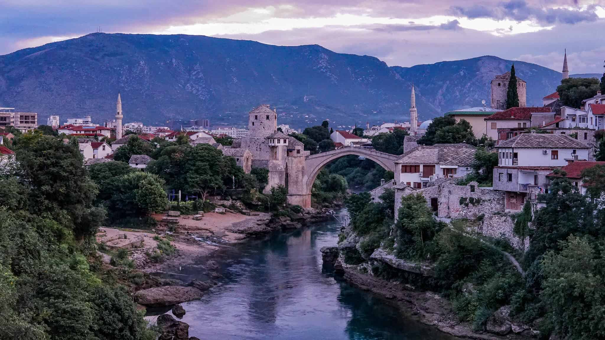 Blick auf Stari Most Mostar