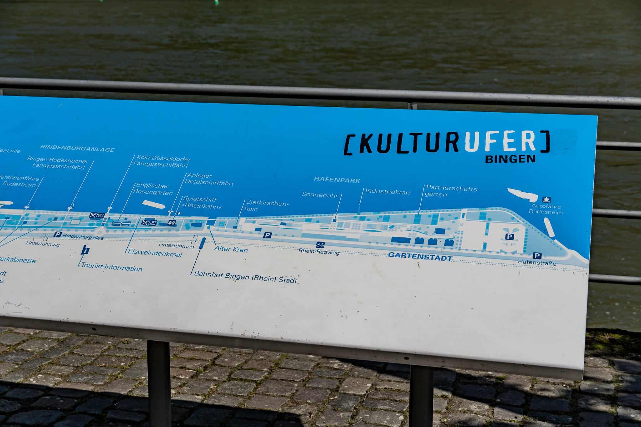 Karte Binger Kulturufer